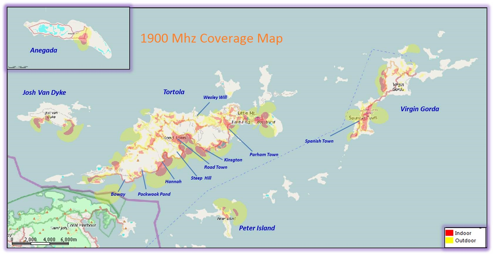 Flow   British Virgin Islands   Mobile   Coverage Map