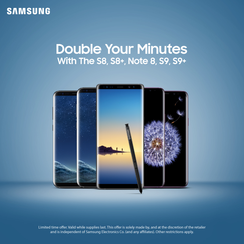 Samsung S8 Double minutes