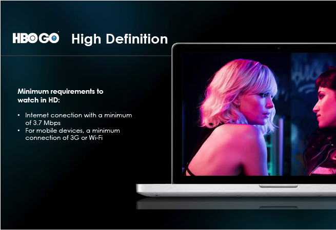 High Definition feature